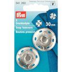 Prym-30-Millimetri-Sew-On-Snap-Fasteners-Confezione-da-2-Ottone-Argento-B0052J89XE