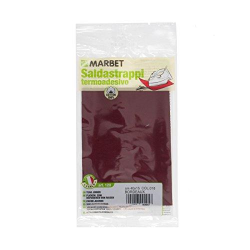 SALDASTRAPPI-Termoadesivo-MARBET-40x15cm-cotone-Rosso-bordeaux-rammendo-120-018-B01IIECM82